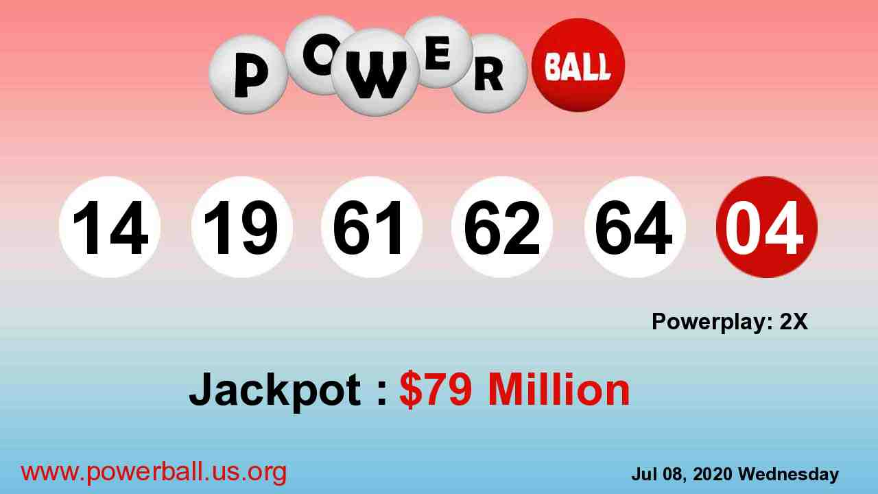 Powerball lottery winning numbers for July 11, 2020, Saturday
