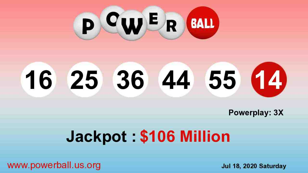 Powerball lottery winning numbers for July 22, 2020, Wednesday