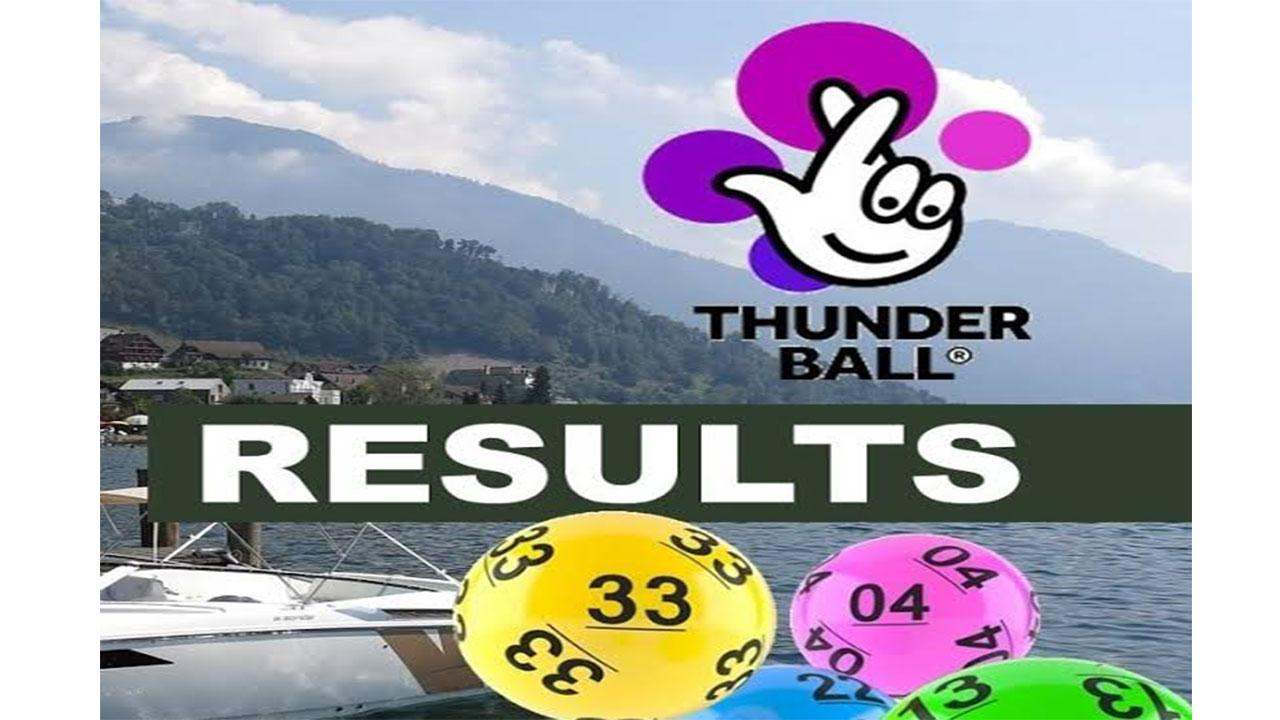Thunderball Lotto winning numbers for 23 July, 2021